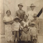 Photo of an African American family circa 1890